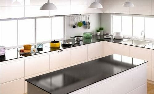 Elegantly Particle Board Kitchen Cabinets For Commercial Office Building Decor